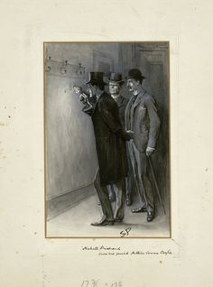 "This illustration for ""The Adventure of the Norwood Builder"" is one of 356 drawings Sidney Paget created for the original publication of the Sherlock Holmes stories."