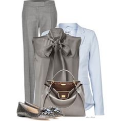 A fashion look from October 2014 featuring Alberta Ferretti blouses, ONLY blazers y STELLA McCARTNEY pants. Browse and shop related looks.