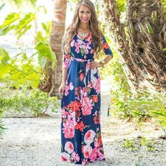 Floral Print to the Maxi Dress- Boho Style