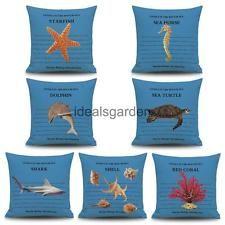 Marine creatura animale Cotone Biancheria Cuscino Divano Auto Buttare Federa