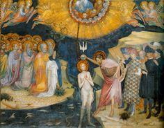 Салимбени. Крещение Христа. Фрески в Оратории Иоанна Крестителя в Урбино.