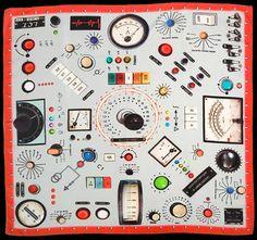 ICON » 電子音楽スタジオをモチーフにしかのようなスカーフ