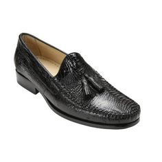 Beautiful genuine caiman and ostrich tassel loafers with moc toe design alligator shoes for men.
