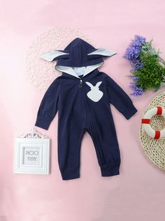 To find out about the Toddler Boys Cartoon Print Hooded Jumpsuit at SHEIN, part of our latest Toddler Boy Jumpsuits ready to shop online today! Cute Baby Bunnies, Cute Babies, Deer Print, Printed Jumpsuit, Cotton Style, Bleu Marine, Toddler Boys, Fashion News, Men Fashion