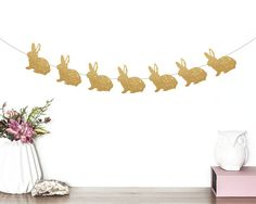 Bunny Banner, Bunny Birthday, Bunny Party Decorations, Rabbit Banner, Bunny Rabbit, Rabbit Garland, Bunny Garland, Some Bunny is One