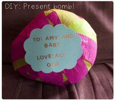 Present bomb DIY - such a fun idea!