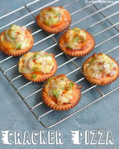 Cheesy monaco pizza bites are perfect for kids after school snacks, for kitty parties or get together snack. Quick video recipe with step by step pictures. Canapes Recipes, Veg Recipes, Indian Food Recipes, Appetizer Recipes, Cooking Recipes, Snacks Recipes, Indian Appetizers, Unique Recipes, Coffee Recipes