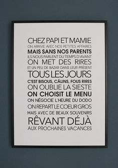 Affiche Exclusive Chez Papi et Mamie Grandma Quotes, Mothers Day Quotes, Quotes Kids, Parenting Quotes, Parenting Advice, Funny Parenting, Parenting Toddlers, Foster Parenting, Diy Papier
