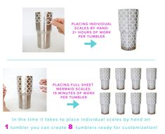 Mermaid Scale Tumblers. Want to make more money with your custom tumbler or craft business? Get our connected mermaid scales and start saving time and making more money.