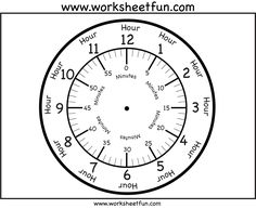 free printable clock faces, several styles