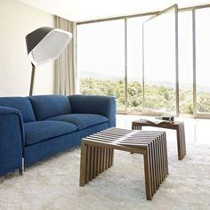 Contemporary stool / solid wood / walnut / varnished 10 VAGUES by Damien Hamon  Ligne Roset