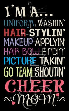 Cheer Mom Cheerleader Typography Stencil | Stencil Me In