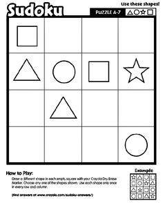 Sudoku A-7 printable Logic and Reasoning skills