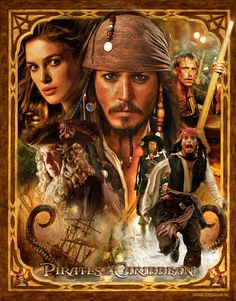 Pirates of the Carribean Mousepad by jdesigns $0.99
