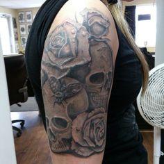Photo by daleboudreau Black And Grey, Tattoos, Instagram Posts, Tatuajes, Tattoo, Japanese Tattoos, Tattoo Illustration, A Tattoo, Time Tattoos