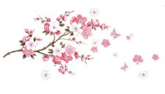 Sakura Flower Bedroom Room Vinyl Decal Art DIY Home Decor Wall Sticker Removable The Real Sticker Manufacture Factory $3.99