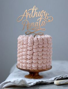 Topo de bolo personalizado - http://www.2wed.com.br