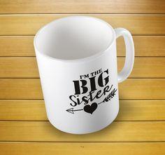 Big Sister Arrow Mug #bigsistermug #bigsister #bigsistercup #sistermug #mugs #mug #whitemug #drinkware #drink&barware #ceramicmug #coffeemug #teamug #kitchen&dining #giftmugs #cup #home&living #funnymugs #funnycoffecup #funnygifts