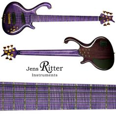 """Roya with Flamed maple top, neck and fingerboard with a """"Flieder"""" High gloss finish."""