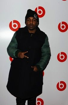 Kendrick Lamar wearing Carven Down Sleeves Duffle Coat at Beats by Dr. Dre Show Your Colour Event