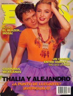 """Alejandro Sanz y Thalia en portada de revista """"Eres"""""""