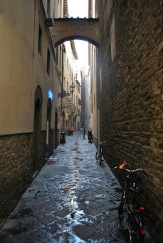 Alleyway in Florence, Italy