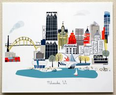 Milwaukee WI by albiedesigns on Etsy, $30.00