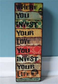 #color #quote #sign #wisdom #mumford and sons #lyrics #music on canvas or board