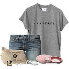 Tee & Shorts by cindycook10 on Polyvore featuring Levi's, Vans, IaM by Ileana Makri and Urban Boundaries
