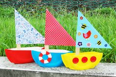 Paper Plate Sailboat craft for Family Reading Night