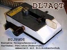 Double Speed Key; Cootie mit Saugfuß; Sideswiper with suction base; Rechts-Links-Taste; Wabbler; Double Speed Key; Manip simple levier, double contact avec ventouse; Selbstbau/Homebrew/Construction de DL7AQThttp://www.qrpforum.de/thread.php?postid=11983#post11983