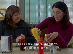 """Whoever you date must also share a love of coffee. 22 Ways Coffee Lovers Are Basically Lorelai From """"Gilmore Girls"""" Amy Sherman Palladino, Gilmore Girls Quotes, Girlmore Girls, Lorelai Gilmore, Lauren Graham, Movie Lines, Boyfriend Goals, Movie Quotes, Crush Quotes"""