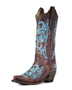 Corral Womens Brown/Turquoise Dhalia Boot - R1193 Might have to get these!!!