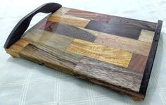 Serving tray made of Brazilian woods