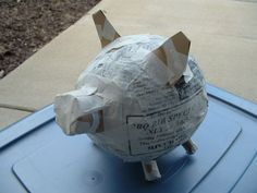 Start of the Paper Mache Pig Project.