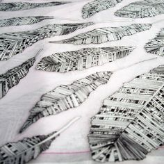Silk habotai scarf by Craig Fellows Silk Screen Printing, Printing On Fabric, Meteorology, Feather Print, Fossils, Astronomy, Print Patterns, Projects To Try, Bugs