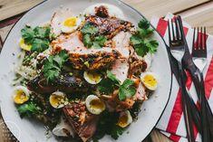 Lohta, marokkolaista quinoaa ja viiriäisen munia / Hannan soppa