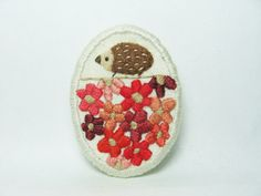 The paved way to a secret garden ONE OF A KIND hand embroidered brooch