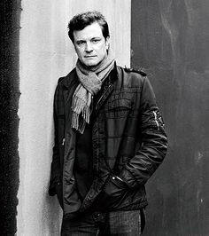 Colin Firth, male actor, celeb, powerful face, intense eyes, Mr. Darcy, steaming hot, sexy, eyecandy, portrait, photo b/w.