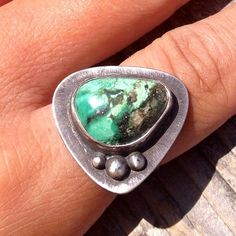 MERMAID BY HAND JEWELRY turquoise ring   www.facebook.com/mermaidbyhand