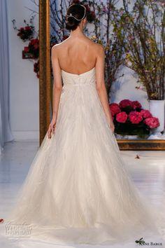 anne barge spring 2017 bridal strapless deep v plunging neckline embellished bodice beautiful a line ball gown wedding dress chapel train (026) bv