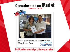 Feliz Ganadora de un iPad Air 16 GB