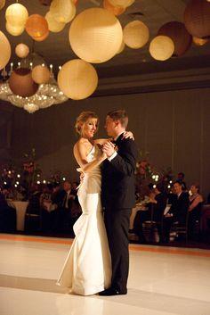 First Dance -  Drury Lane Oakbrook Terrace, IL  Photography: Jacqueline Barkley Photography - jacquelinebarkley.com Event Design: Elegant Event Lighting - eleganteventlighting.net Floral Design: Phillip\'s Flowers & Gifts - phillips-flowers.com  Read More: http://www.stylemepretty.com/illinois-weddings/chicago/2012/12/14/chicago-wedding-at-drury-lane-theatre-from-jacqueline-barkley-photography/