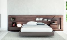 Wood Bed Design, Bed Frame Design, Bedroom Furniture Design, Modern Bedroom Design, Master Bedroom Design, Bed Furniture, Platform Bed Designs, Wood Platform Bed, Bedroom Colors
