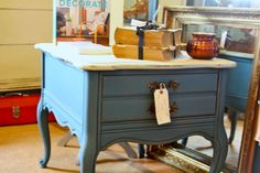Nightstand in Country Grey and Aubusson