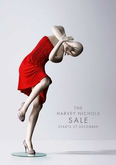 Harvey Nichols Scared campaign. Art Director: Rob Messeter. Copywriter: Mike Crowe. Photographer: Giles Revell. Designer/Modelmaker: Andy Knight.