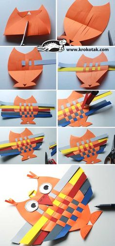 Eule basteln - Fall Crafts For Toddlers Craft Activities, Preschool Crafts, Crafts For Kids, Children Activities, Owl Crafts, Animal Crafts, Paper Crafts, Projects For Kids, Art Projects
