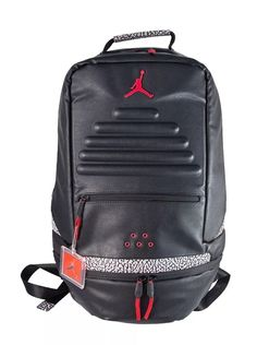 b2fbaeb22c9c Nike Air Jordan Black and Red Small   Mini Backpack for Preschool ...