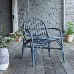 Mina grey Rattan Chair