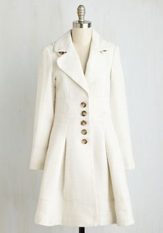 Winter white 1950s retro inspired coat. Heart and Solstice Coat $129.99 AT vintagedancer.com